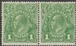 SG 86 ACSC 80(1)f. KGV Head 1d Green pair (AHSMP/281)